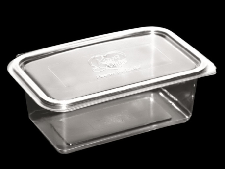 1000 ml Food Container With Hinged Lid - Plain, Flat