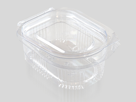 20 cc Oval Sauce Container, With Hinged Lid