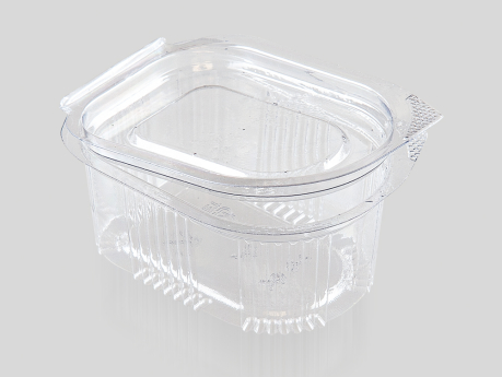 30 cc Oval Sauce Container, With Hinged Lid