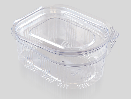 50 cc Oval Sauce Container, With Hinged Lid