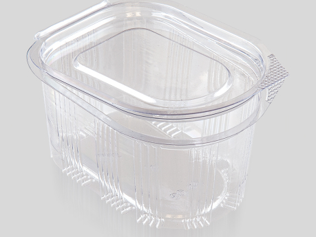 80 cc Oval Sauce Container, With Hinged Lid